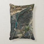Aruban Whiptail Lizard Tropical Animal Photography Accent Pillow