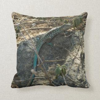 Aruban Whiptail Lizard Tropical Animal Photography Pillow