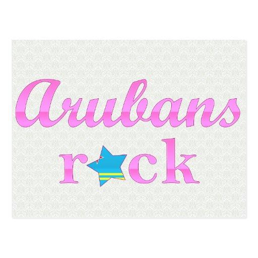 Arubans Rock - Cute Pink Postcard