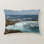 Aruba's Rocky Coast and Blue Ocean Accent Pillow