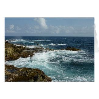 Aruba's Rocky Coast and Blue Ocean Card