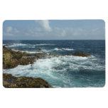 Aruba's Rocky Coast and Blue Ocean Floor Mat