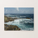 Aruba's Rocky Coast and Blue Ocean Jigsaw Puzzle