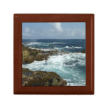 Aruba's Rocky Coast and Blue Ocean Keepsake Box