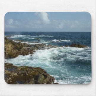 Aruba's Rocky Coast and Blue Ocean Mouse Pad