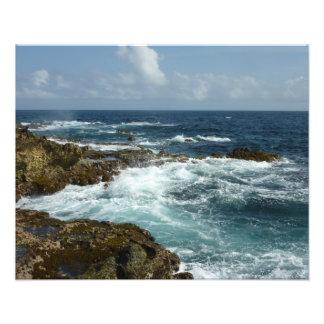 Aruba's Rocky Coast and Blue Ocean Photo Print
