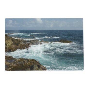 Aruba's Rocky Coast and Blue Ocean Placemat