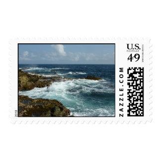 Aruba's Rocky Coast and Blue Ocean Postage