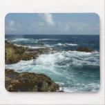 Aruba's Rocky Coast Blue Ocean Mousepad
