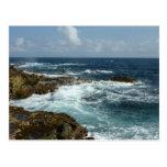 Aruba's Rocky Coast Blue Ocean Postcard