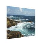 Aruba's Rocky Coast Stretched Canvas Print