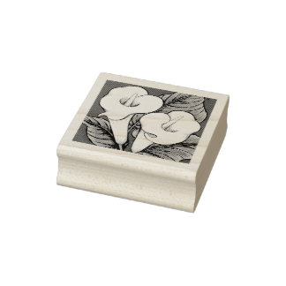 Arum Lilies Rubber Stamp