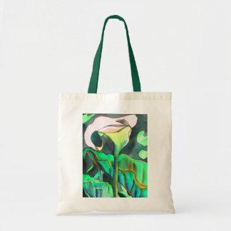Arum Lily watercolor art painting flower Tote Bag
