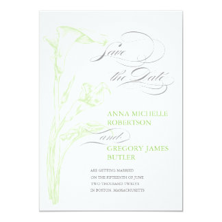 Arum Save the Date Card