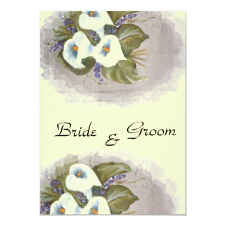 Arums bouquet card