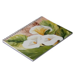 Arums bouquet spiral notebooks