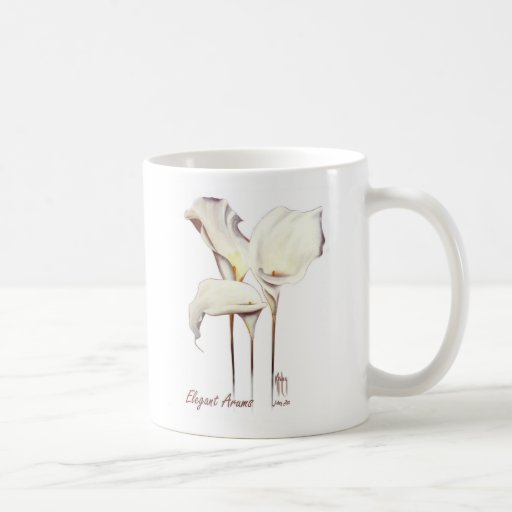 Arums elegantes tazas de café