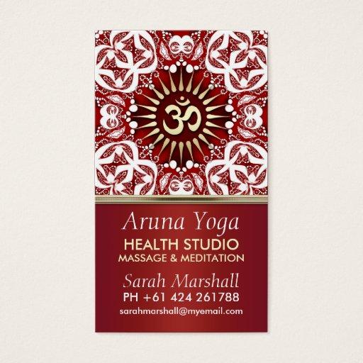 Aruna Yoga Eastern New Age Business Card