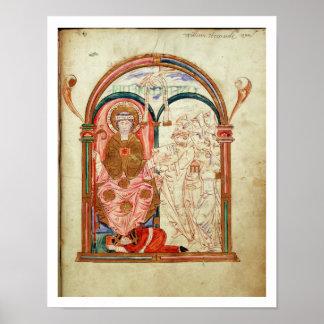 Arundel 155 f.133 Monks of Christchurch, Canterbur Poster