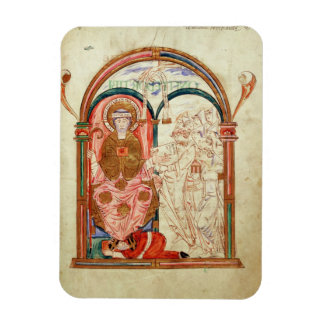 Arundel 155 f.133 Monks of Christchurch, Canterbur Rectangle Magnets