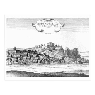 Arundel_Castle_and_town_1644 Postcard