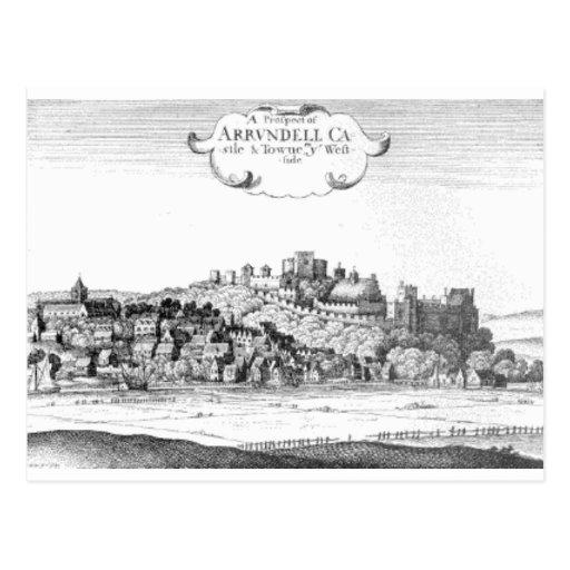 Arundel_Castle_and_town_1644 Tarjetas Postales