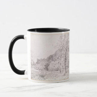 Arundel Mill and Castle, 1835 (drawing) Mug