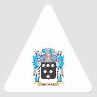 Arundle Coat Of Arms Triangle Stickers