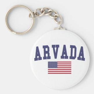 Arvada US Flag Keychain