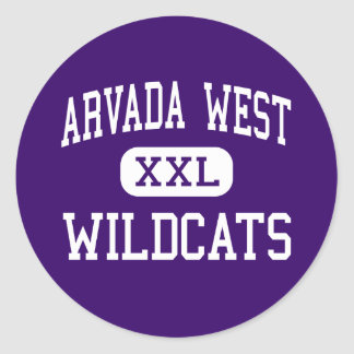 Arvada West - Wildcats - High - Arvada Colorado Classic Round Sticker