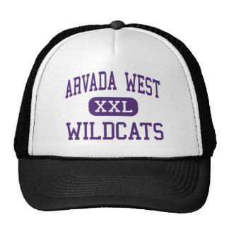 Arvada West - Wildcats - High - Arvada Colorado Hats
