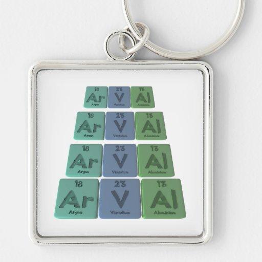 Arval-Ar-V-Al-Argon-Vanadium-Aluminium Key Chains