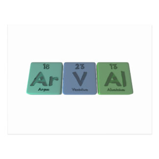 Arval-Ar-V-Al-Argon-Vanadium-Aluminium Postcard