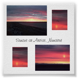 Arviat, Nunavut Sunset Posters