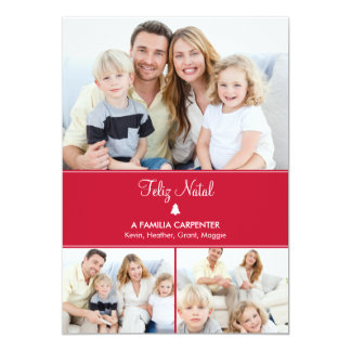 "Árvore cartões de fotos de Modernos de férias Invitación 5"" X 7"""