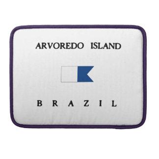 Arvoredo Island Brazil Alpha Dive Flag MacBook Pro Sleeve