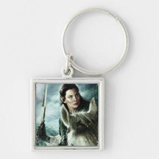 Arwen en nieve y espada llavero