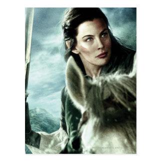 Arwen en nieve y espada postal