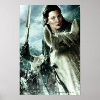 Arwen en nieve y espada póster