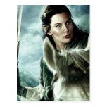 Arwen en nieve y espada tarjeta postal
