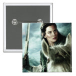 Arwen in Snow and Sword 2 Inch Square Button