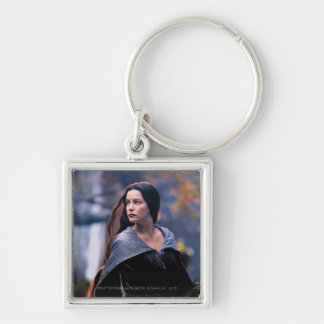 Arwen Looking Back Silver-Colored Square Keychain