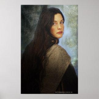 Arwen que da vuelta detrás póster