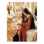 Arwen Reading Postcards