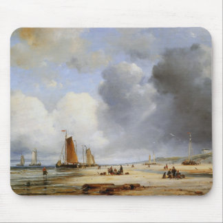 Ary Pleysier,'Beach View With Boats' Mouse Pad