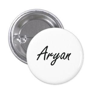Aryan Artistic Name Design 1 Inch Round Button