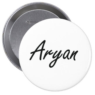 Aryan Artistic Name Design 4 Inch Round Button
