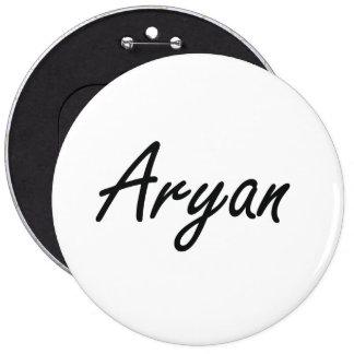 Aryan Artistic Name Design 6 Inch Round Button