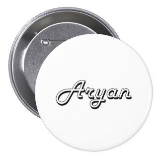 Aryan Classic Retro Name Design 3 Inch Round Button