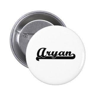 Aryan Classic Retro Name Design 2 Inch Round Button